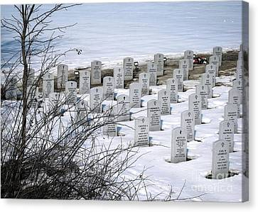 Ohio Western Reserve National Cemetary Canvas Print by Ellen Cotton