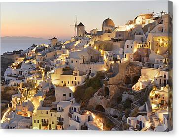 Greek Icon Canvas Print - Oia by Christian Heeb