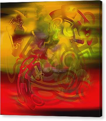 Canvas Print featuring the digital art Oil 444 by Andy Walsh