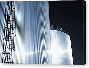 Oil And Gas Refinery Canvas Print by Christian Lagereek
