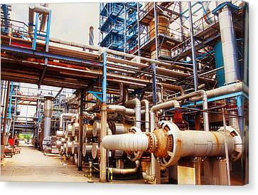 Oil And Gas Refinery Engineering And Technology Canvas Print