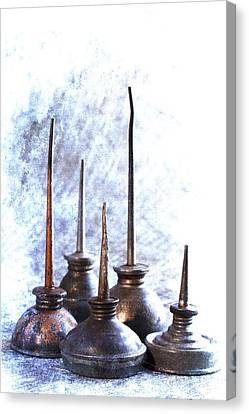 Oil Cans Canvas Print by Carol Leigh