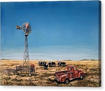 Oil Change Canvas Print