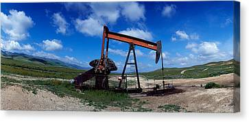 Taft Canvas Print - Oil Drill On A Landscape, Taft, Kern by Panoramic Images