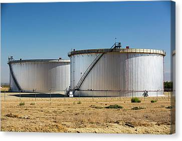 Taft Canvas Print - Oil Field Infrastructure by Ashley Cooper