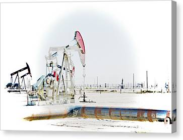 Canvas Print featuring the photograph Oil Field by Joel Loftus
