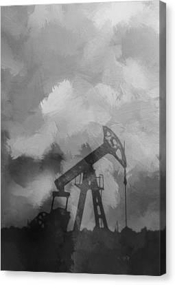 Oil Field Canvas Print by Steve K
