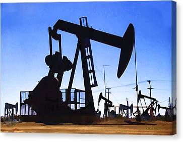 Oil Fields Canvas Print by Chuck Staley