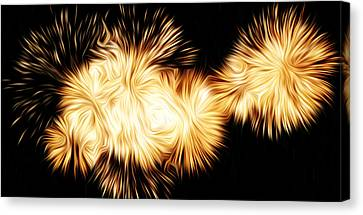 Oil Fireworks Canvas Print by Stefan Petrovici