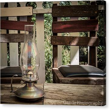 Oil Lamp Canvas Print - Oil Lamp 2 by Gandz Photography