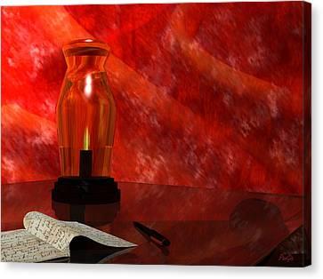 Oil Lamp Canvas Print - Oil Lamp by John Pangia