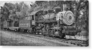 Oil Painted Train Canvas Print by Brian Mollenkopf