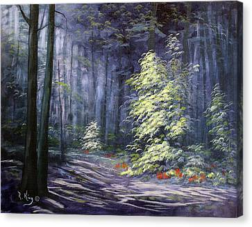 Oil Painting - Forest Light Canvas Print