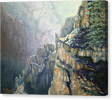 Oil Painting - Majestic Canyon Canvas Print
