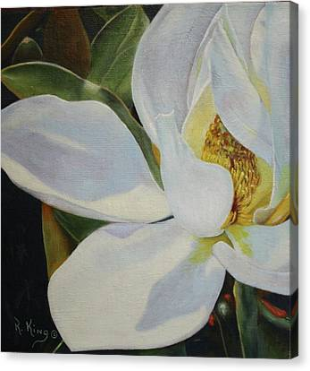 Oil Painting - Sydney's Magnolia Canvas Print