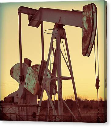 Oil Pump Canvas Print by Tony Grider