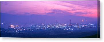 Oil Refinery, Andalucia, Spain Canvas Print