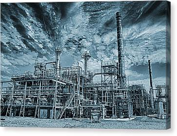 Oil Refinery In High Definition Canvas Print by Christian Lagereek