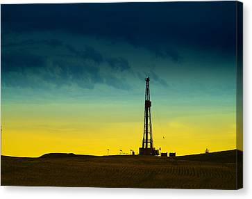 Oil Rig In The Spring Canvas Print