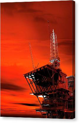 Resource Canvas Print - Oil Rig by Victor Habbick Visions