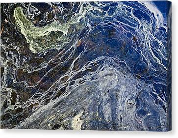 Oil Spill Abstract Canvas Print by Dancasan Photography