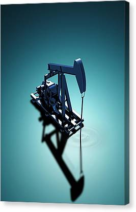 Oil Well Pump Canvas Print by Victor Habbick Visions