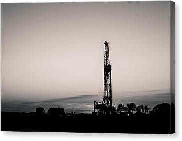 Oil Well Sunset Canvas Print