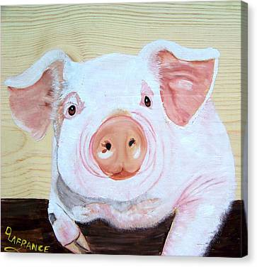 Oink Canvas Print by Debbie LaFrance