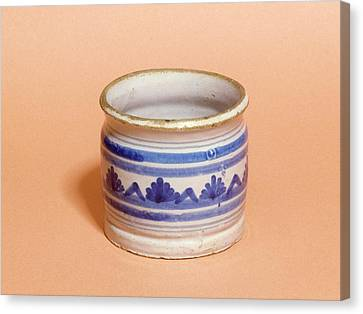 Ceramic Glazes Canvas Print - Ointment Pot by Science Photo Library