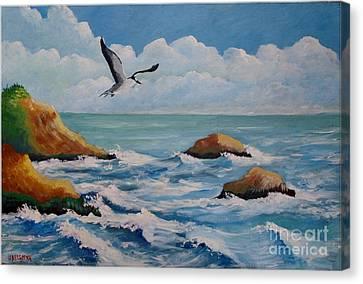 Oiseau Solitaire Canvas Print