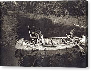 Ojibwas Hunting Canvas Print by Underwood Archives