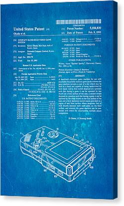 Okada Nintendo Gameboy Patent Art 1993 Blueprint Canvas Print by Ian Monk