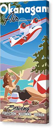 Okanagan Air, Mid Century Fun Canvas Print