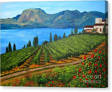 Okanagan Vineyard Canvas Print by Alicia Fowler