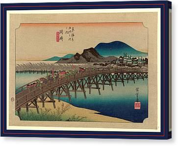 Okazaki, Ando Between 1833 And 1836, Printed Later Canvas Print by Utagawa Hiroshige Also And? Hiroshige (1797-1858), Japanese