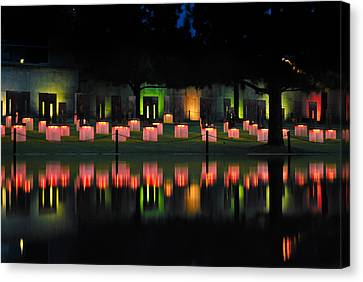 Oklahoma City National Memorial - Field Of Empty Chairs Canvas Print