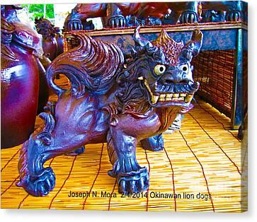 Okinawan Lion Dogs Canvas Print