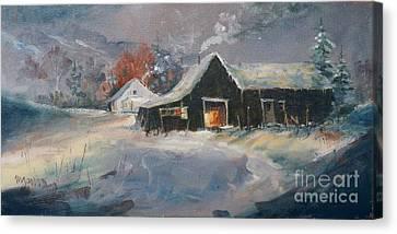 Oklahoma Christmas Eve Canvas Print by Micheal Jones