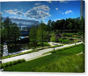 Architecture Canvas Print - Oklahoma City - Myriad Botanical Gardens 001 by Lance Vaughn