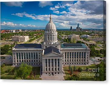 Oklahoma City State Capitol Building B Canvas Print by Cooper Ross