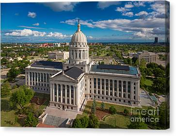 Oklahoma City State Capitol Building C Canvas Print by Cooper Ross