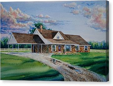 Oklahoma Country Home Canvas Print by Hanne Lore Koehler