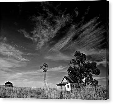 Canvas Print featuring the photograph Oklahoma Farm by Christopher McKenzie