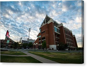 Oklahoma University Canvas Print - Oklahoma Memorial Stadium by Nathan Hillis