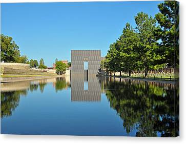 Oklahoma Reflections Canvas Print by Paul Van Baardwijk
