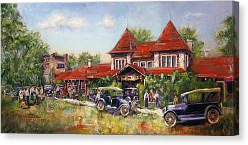 Oklahoma Row Canvas Print by Vicki Ross