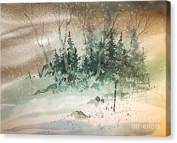 Oklahoma Snow Canvas Print by Micheal Jones