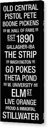 Oklahoma State College Town Wall Art Canvas Print