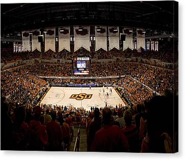 Oklahoma State Cowboys Gallagher-iba Arena Canvas Print by Replay Photos