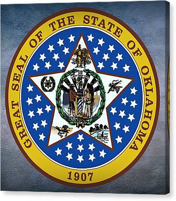 Oklahoma State Seal Canvas Print by Movie Poster Prints